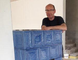 Pascal Pierret - Poêle autrichien faïence - SOMMERHUBER