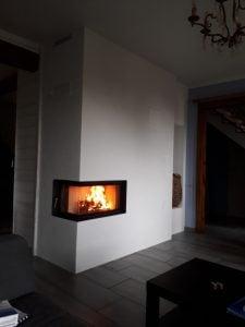 Poêle de masse - Foyer d'angle - Territoire de Belfort - 90