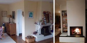 transformation cheminée foyer ouvert à Belfort (90)