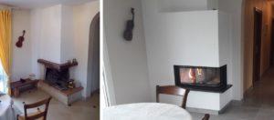 Transformation d'une cheminée d'angle à Montbéliard (25)